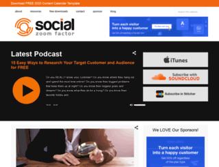 socialzoomfactor.com screenshot