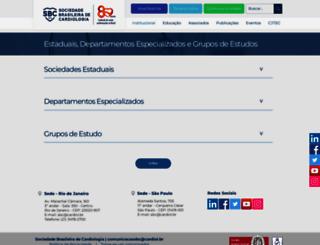 sociedades.cardiol.br screenshot