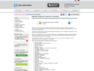 societe.lesclesdumidi.com screenshot