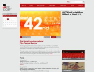society.hkiff.org.hk screenshot