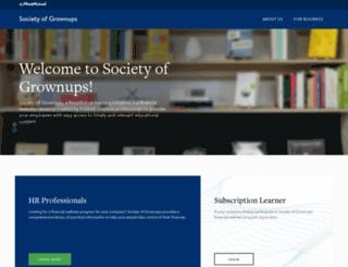 societyofgrownups.com screenshot