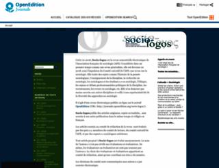socio-logos.revues.org screenshot