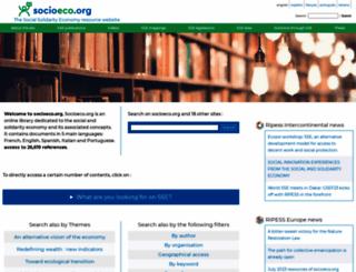 socioeco.org screenshot
