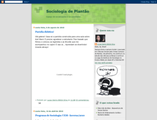 sociologiadeplantao.blogspot.com.br screenshot