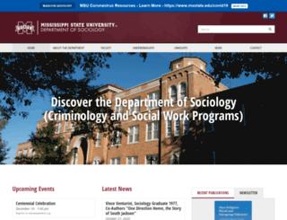 sociology.msstate.edu screenshot