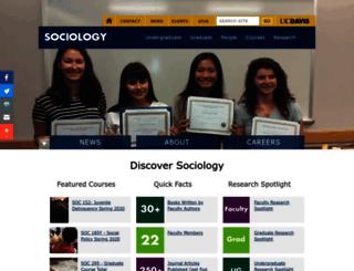 sociology.ucdavis.edu screenshot