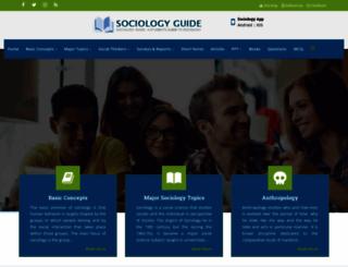 sociologyguide.com screenshot