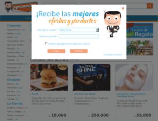 socios.aprovecha.com screenshot