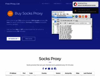 socks-proxy.net screenshot