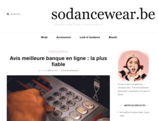 sodancewear.be screenshot