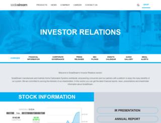 sodastream.investorroom.com screenshot