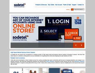 sodetel.net.lb screenshot