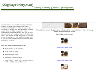 sofas-recliners-tub-chairs.shoppingvariety.co.uk screenshot
