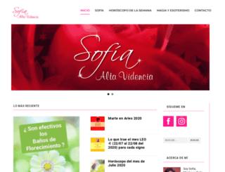 sofiaaltavidencia.com screenshot