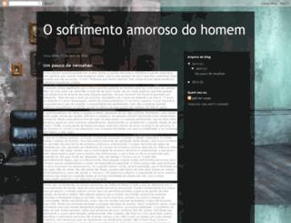 sofrimentoamorosodohomem.blogspot.com screenshot