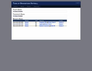 softball.orangetown.com screenshot