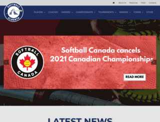 softballalberta.ca screenshot