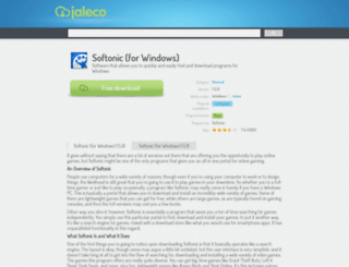 softonic-for-windows.jaleco.com screenshot