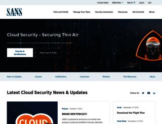 software-security.sans.org screenshot