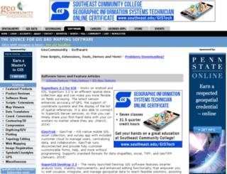 software.geocomm.com screenshot