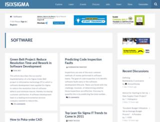 software.isixsigma.com screenshot