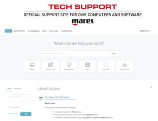 software.mares.com screenshot