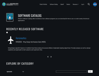 software.nasa.gov screenshot