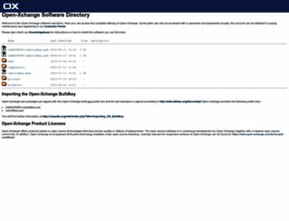 software.open-xchange.com screenshot