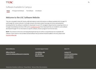 software.usc.edu screenshot