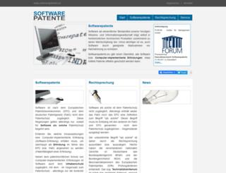 softwarepatents.eu screenshot