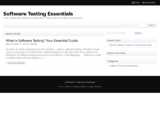 softwaretestingessentials.com screenshot