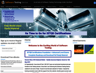 softwaretestinggenius.com screenshot