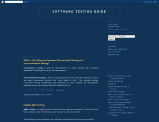 softwaretestingguide.blogspot.com screenshot