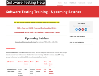 softwaretestinghelp.org screenshot