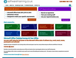 softwaretraining.co.uk screenshot
