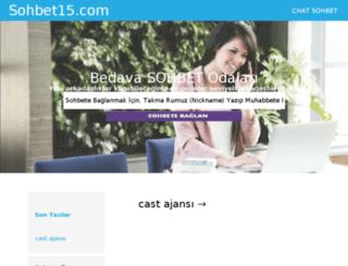 sohbet15.com screenshot