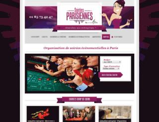 soirees-parisiennes.fr screenshot