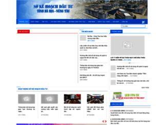 sokhdt.baria-vungtau.gov.vn screenshot