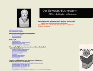 sokrates-buecherwurm.de screenshot