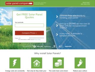 solar-panel-compare.co.uk screenshot