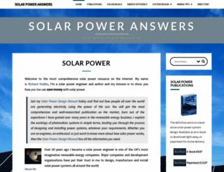 solar-power-answers.co.uk screenshot