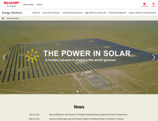 solar.sharpusa.com screenshot