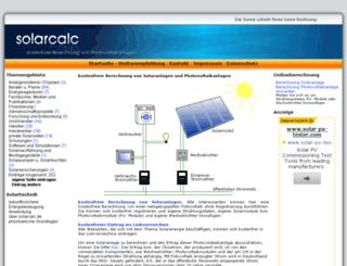 solarcalc.de screenshot
