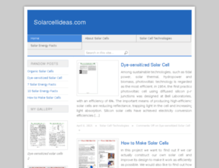 solarcellideas.com screenshot