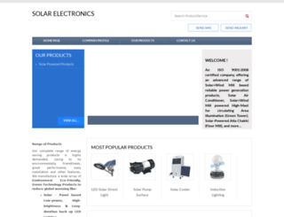 solarelectronics.in screenshot
