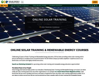 solarenergytraining.org screenshot