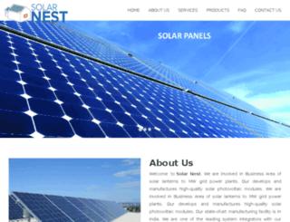 solarnest.in screenshot