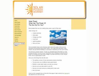 solarpowerbeginner.com screenshot