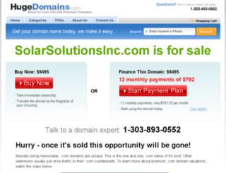 solarsolutionsinc.com screenshot