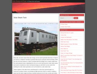 solarsteamtrain.com screenshot